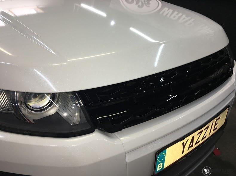 Range Rover Evoque Avery White Diamond, Carwrapping door Wrapmyride.nu Foto-nr:9827, ©2021