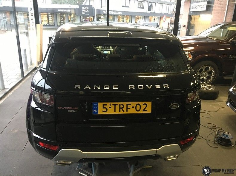 Range Rover Evoque Satin Dark Grey, Carwrapping door Wrapmyride.nu Foto-nr:11010, ©2021