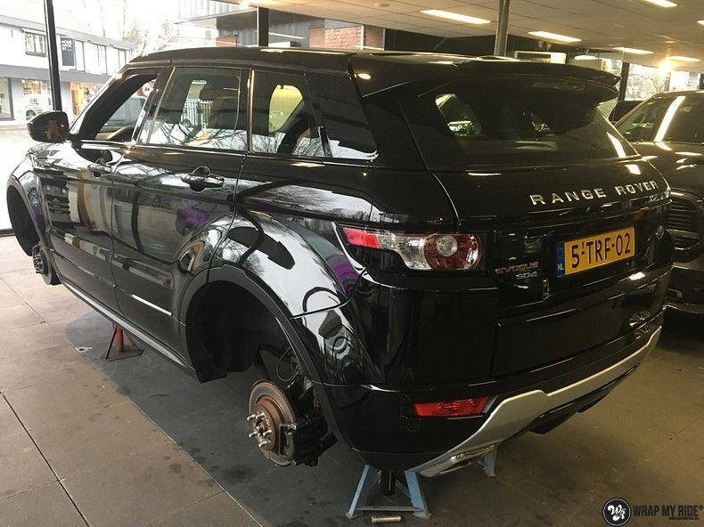 Range Rover Evoque Satin Dark Grey, Carwrapping door Wrapmyride.nu Foto-nr:11011, ©2020