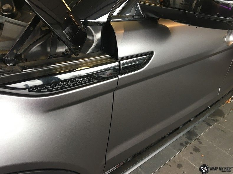Range Rover Evoque Satin Dark Grey, Carwrapping door Wrapmyride.nu Foto-nr:11013, ©2021
