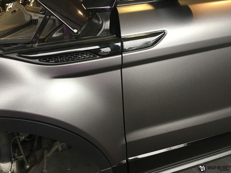 Range Rover Evoque Satin Dark Grey, Carwrapping door Wrapmyride.nu Foto-nr:11001, ©2020