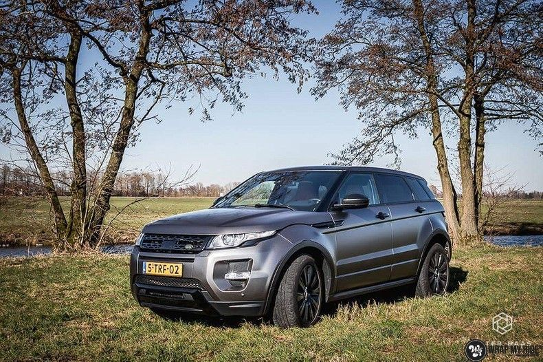 Range Rover Evoque Satin Dark Grey, Carwrapping door Wrapmyride.nu Foto-nr:11031, ©2020