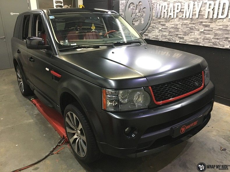 Range Rover Sport Autobiography Satin Black, Carwrapping door Wrapmyride.nu Foto-nr:10494, ©2021