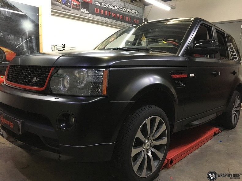 Range Rover Sport Autobiography Satin Black, Carwrapping door Wrapmyride.nu Foto-nr:10496, ©2021