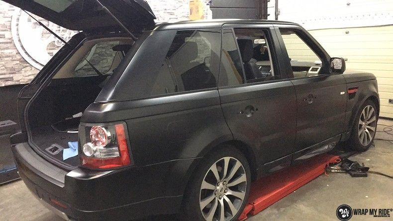 Range Rover Sport Autobiography Satin Black, Carwrapping door Wrapmyride.nu Foto-nr:10514, ©2020