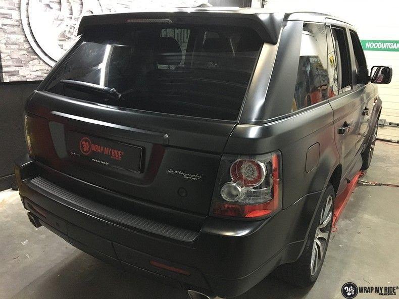 Range Rover Sport Autobiography Satin Black, Carwrapping door Wrapmyride.nu Foto-nr:10507, ©2021