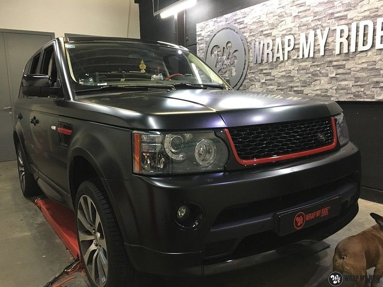 Range Rover Sport Autobiography Satin Black, Carwrapping door Wrapmyride.nu Foto-nr:10502, ©2020