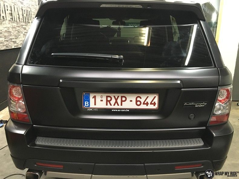Range Rover Sport Autobiography Satin Black, Carwrapping door Wrapmyride.nu Foto-nr:10512, ©2021