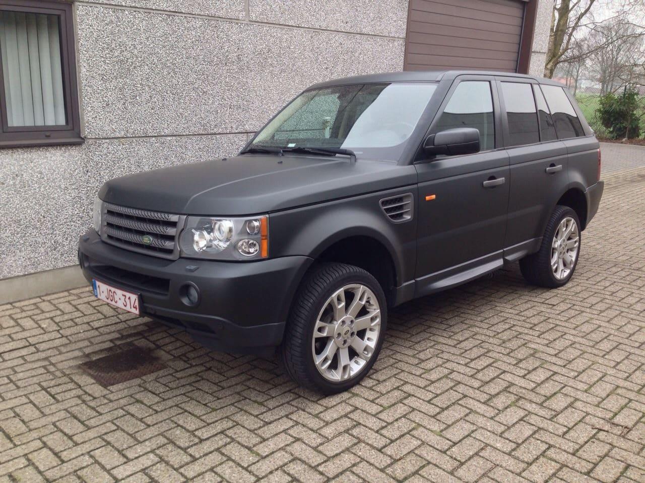 Range Rover Sport Matte >> Range Rover Sport met Mat Zwarte Wrap | Wrap My Ride