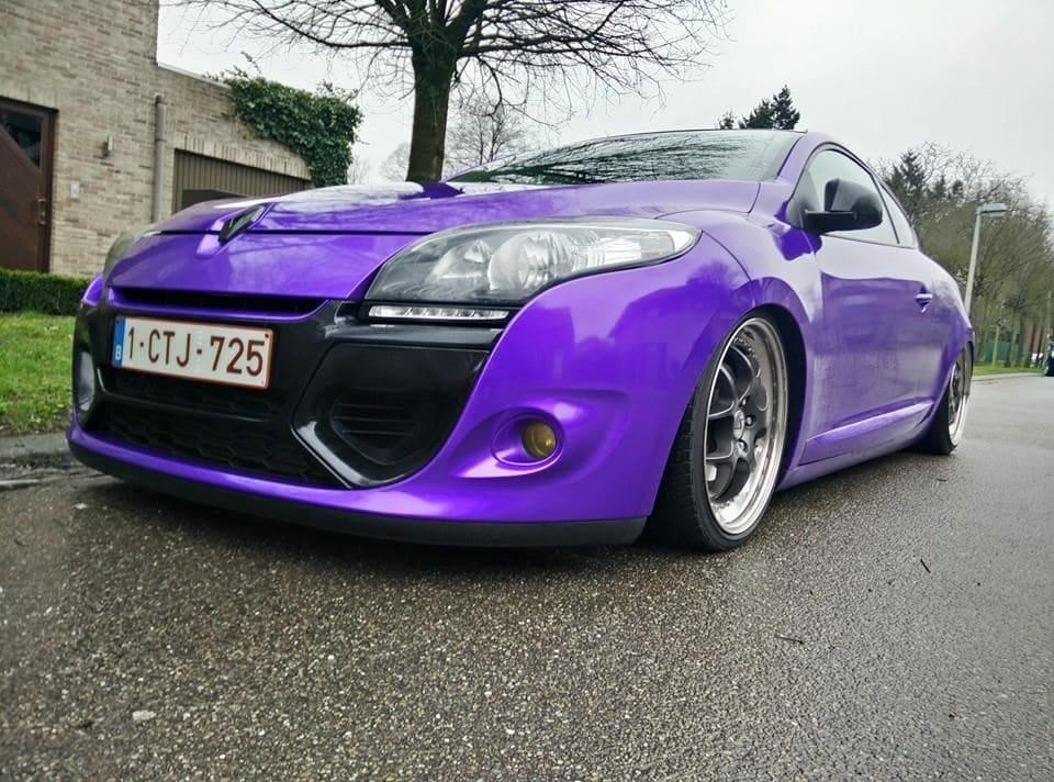 Renault Megane Bose met Amethyst Wrap in Paars, Carwrapping door Wrapmyride.nu Foto-nr:7049, ©2021