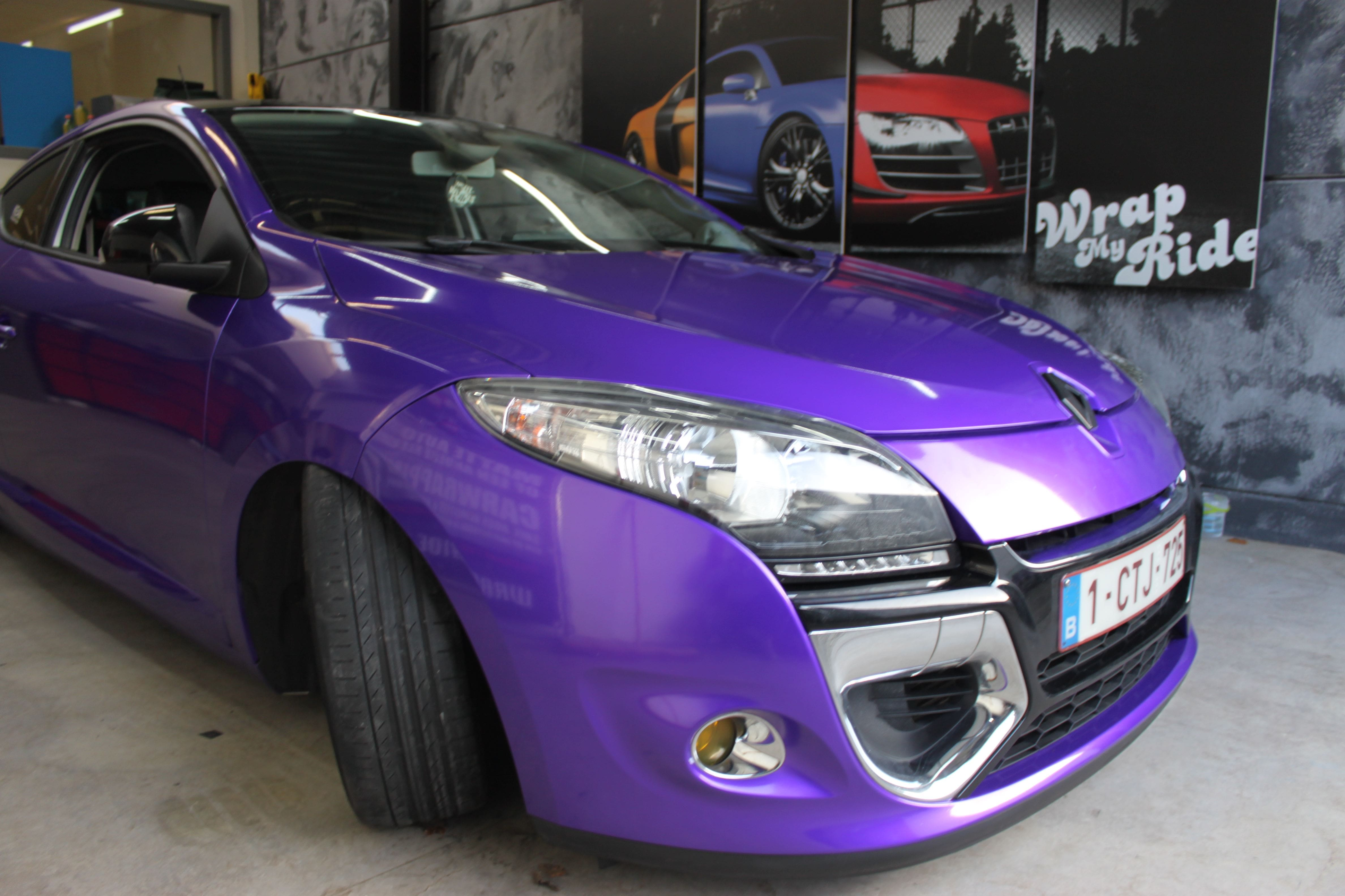 Renault Megane Bose met Amethyst Wrap in Paars, Carwrapping door Wrapmyride.nu Foto-nr:7057, ©2021