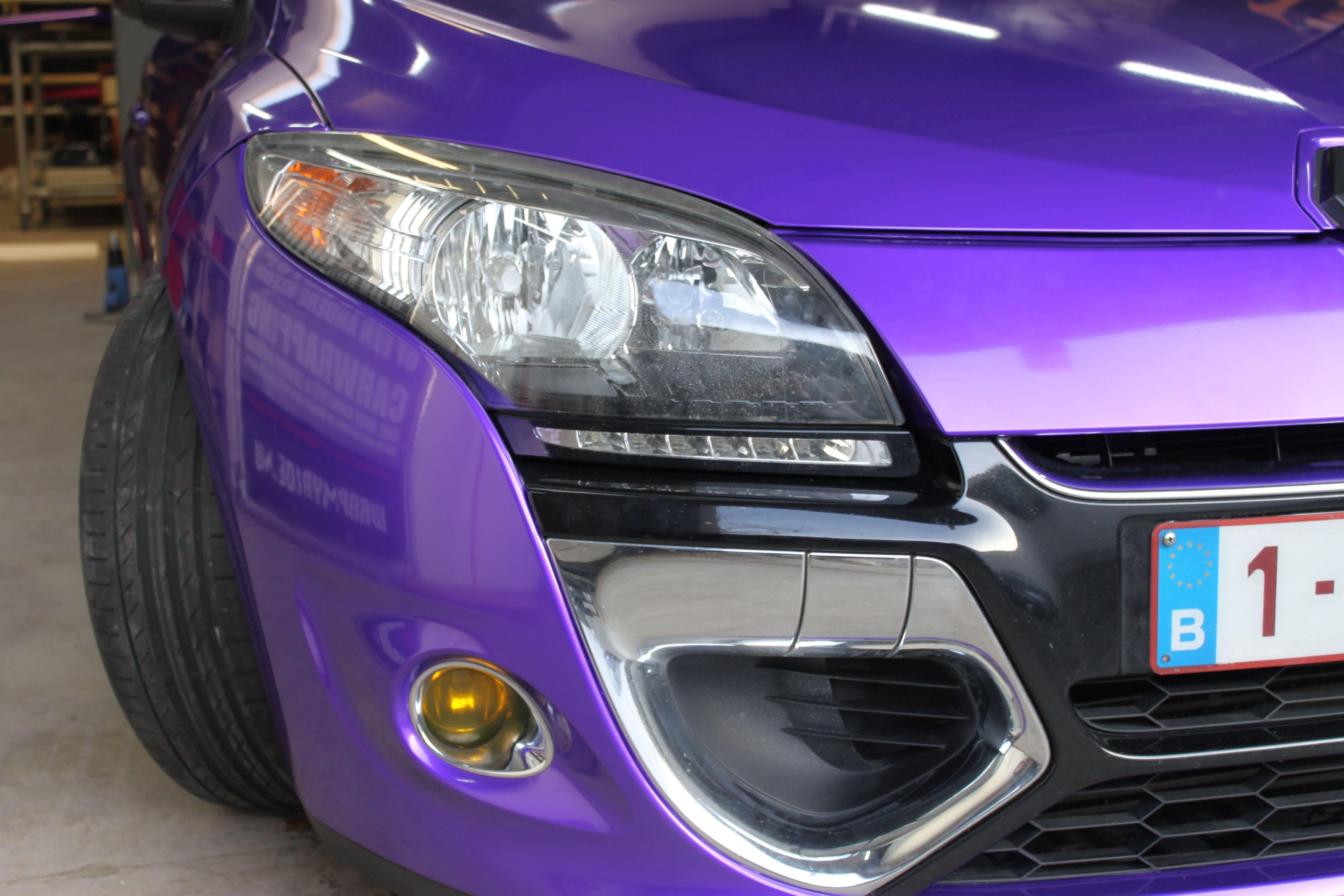 Renault Megane Bose met Amethyst Wrap in Paars, Carwrapping door Wrapmyride.nu Foto-nr:7059, ©2021