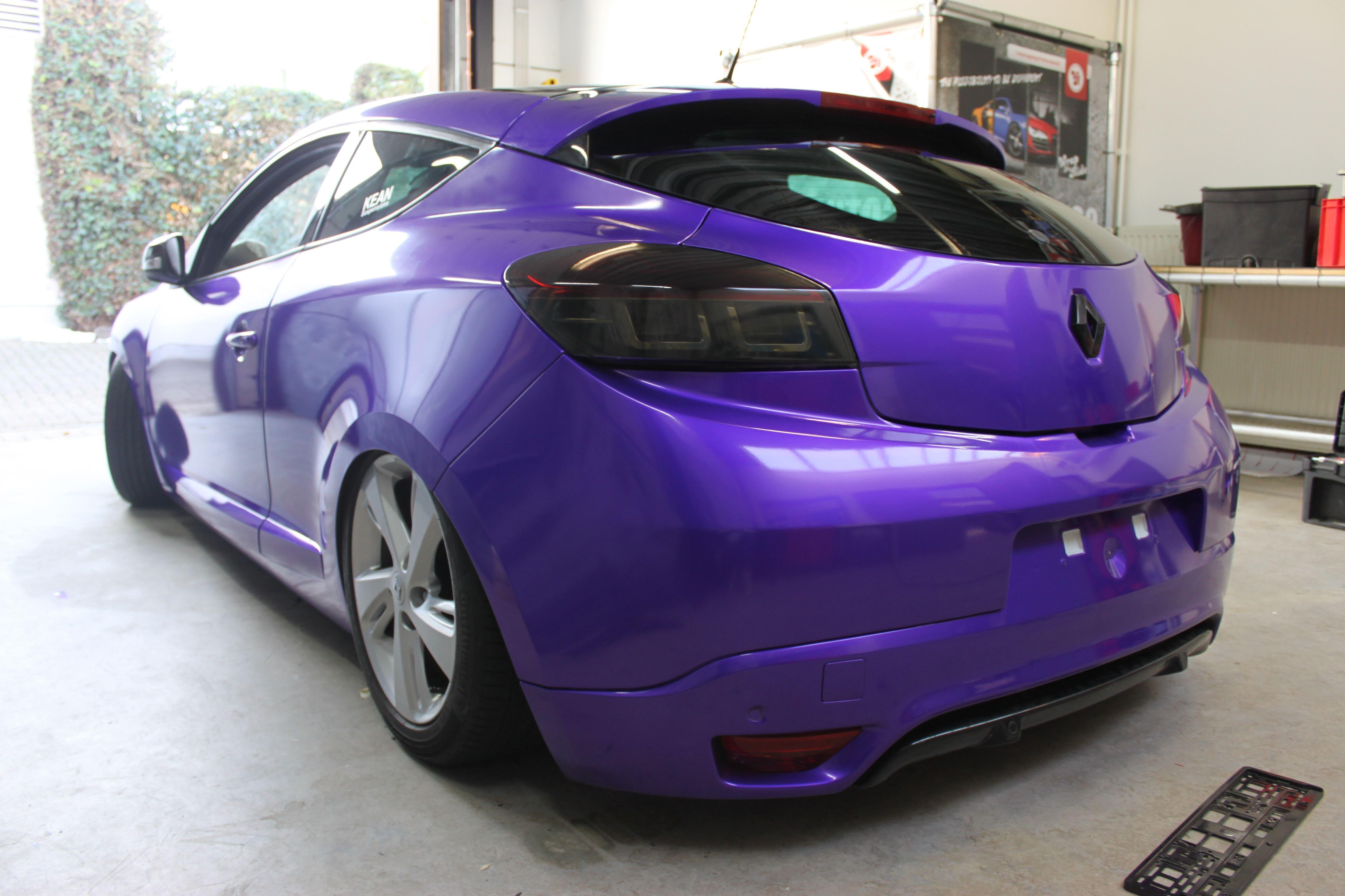 Renault Megane Bose met Amethyst Wrap in Paars, Carwrapping door Wrapmyride.nu Foto-nr:7064, ©2021