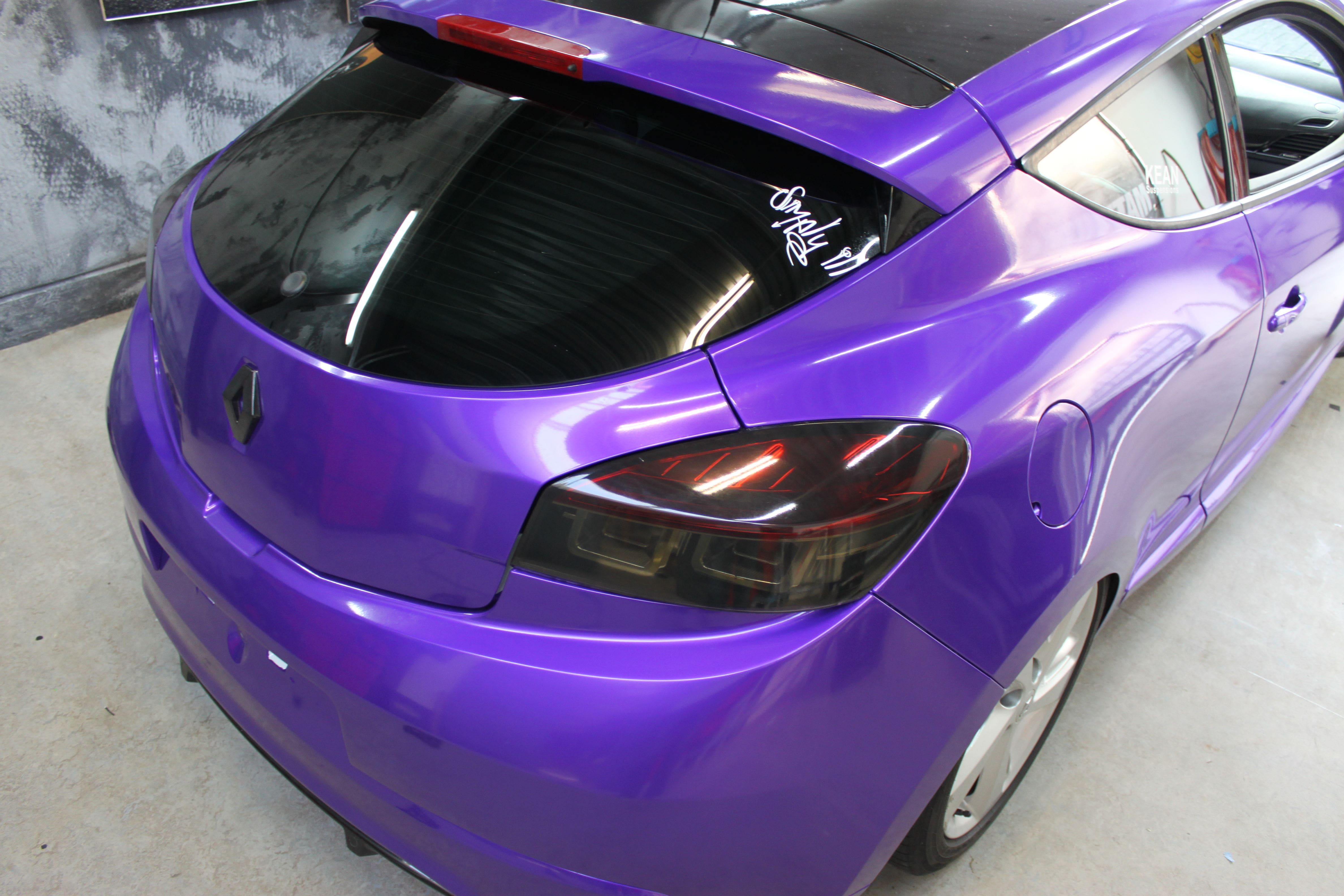 Renault Megane Bose met Amethyst Wrap in Paars, Carwrapping door Wrapmyride.nu Foto-nr:7066, ©2021