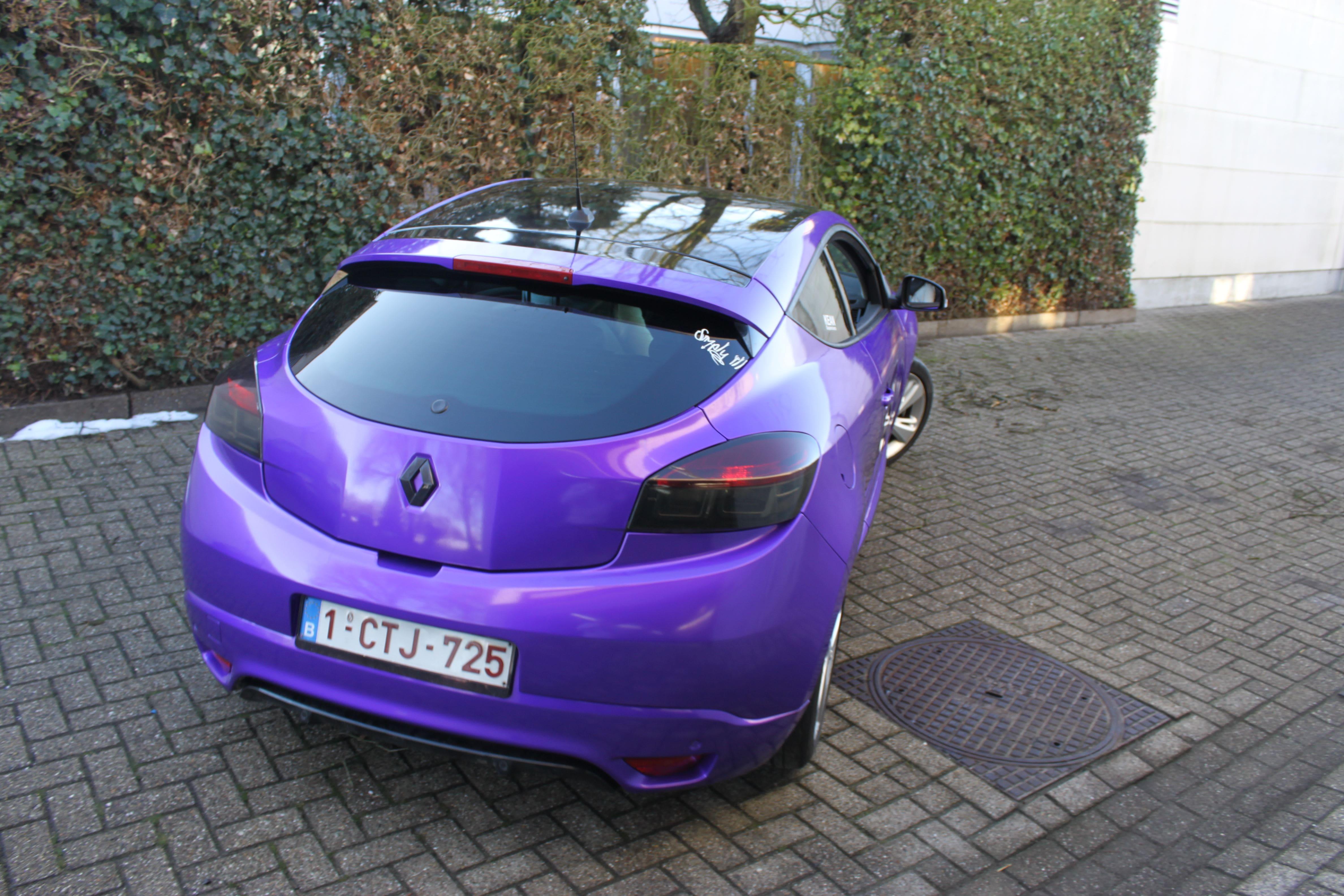 Renault Megane Bose met Amethyst Wrap in Paars, Carwrapping door Wrapmyride.nu Foto-nr:7068, ©2020