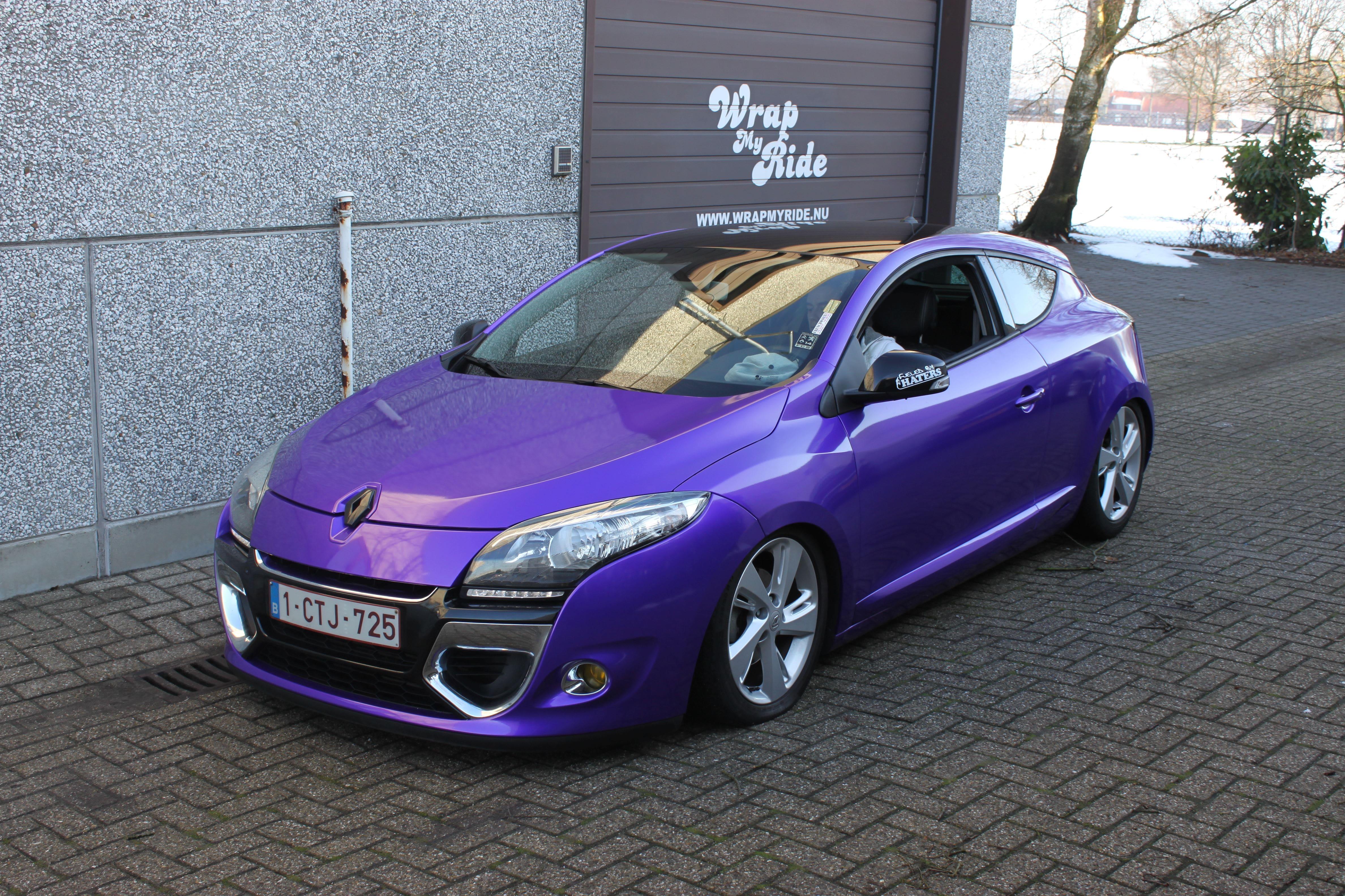 Renault Megane Bose met Amethyst Wrap in Paars, Carwrapping door Wrapmyride.nu Foto-nr:7070, ©2021