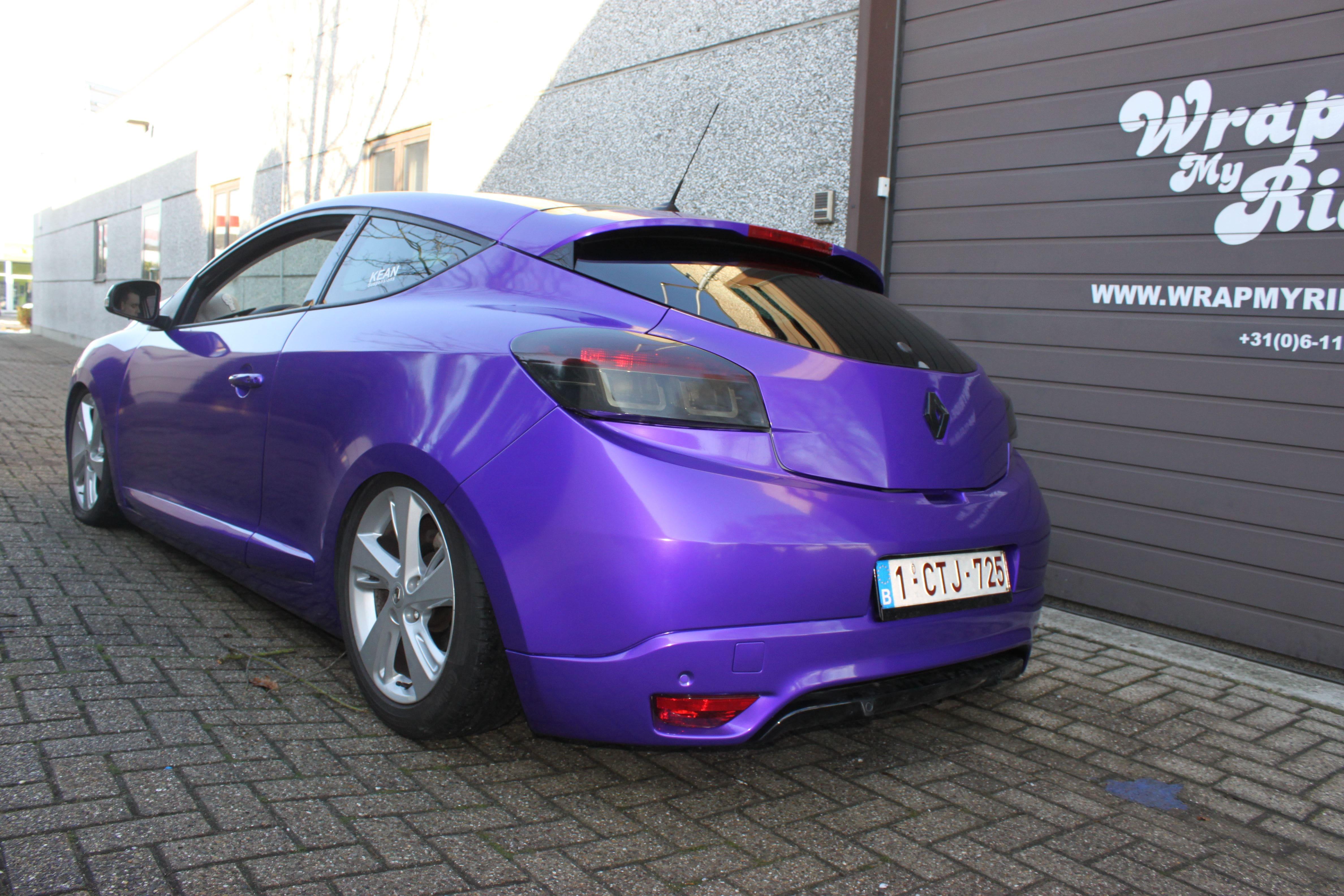 Renault Megane Bose met Amethyst Wrap in Paars, Carwrapping door Wrapmyride.nu Foto-nr:7072, ©2021