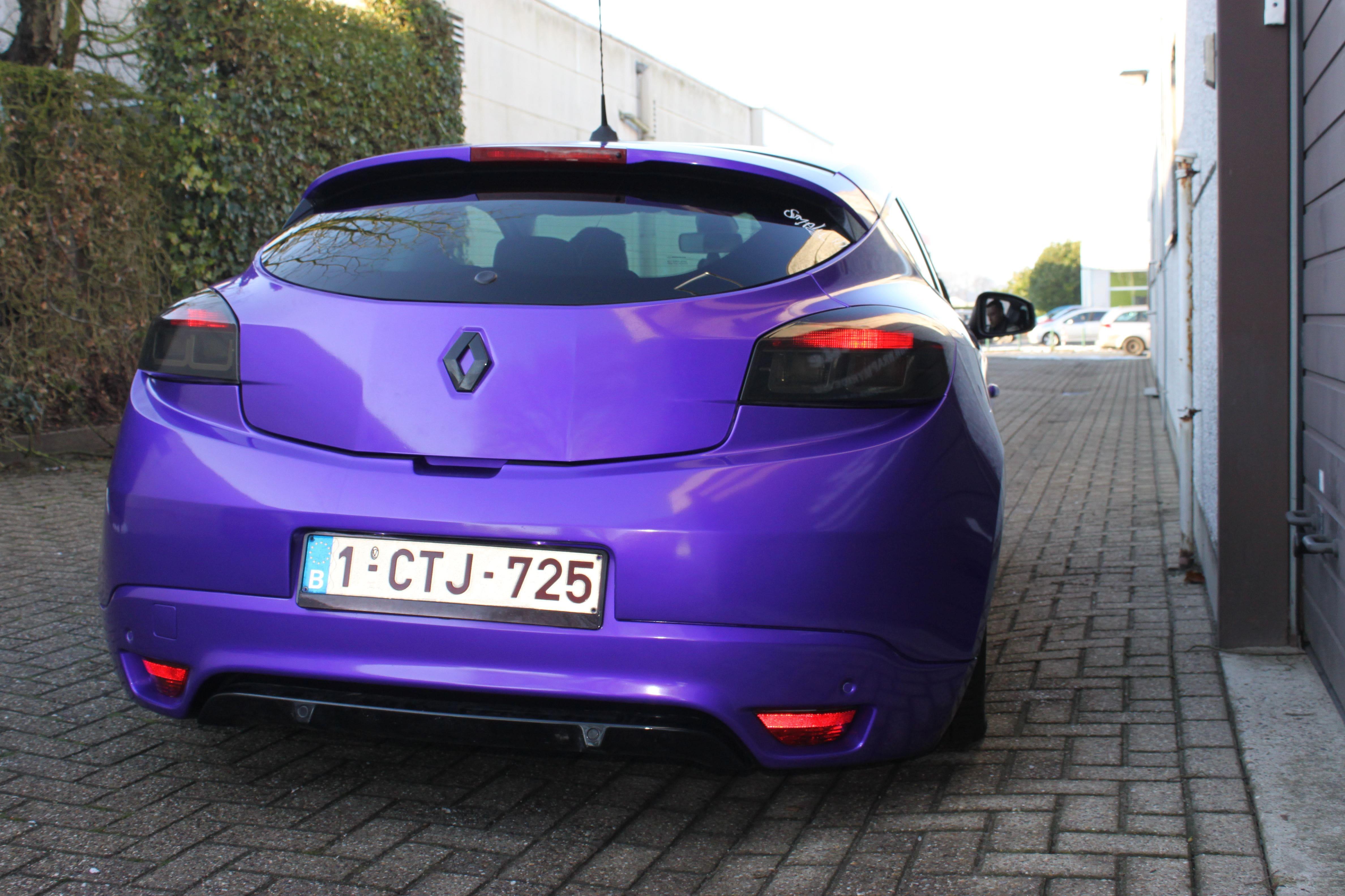 Renault Megane Bose met Amethyst Wrap in Paars, Carwrapping door Wrapmyride.nu Foto-nr:7074, ©2020