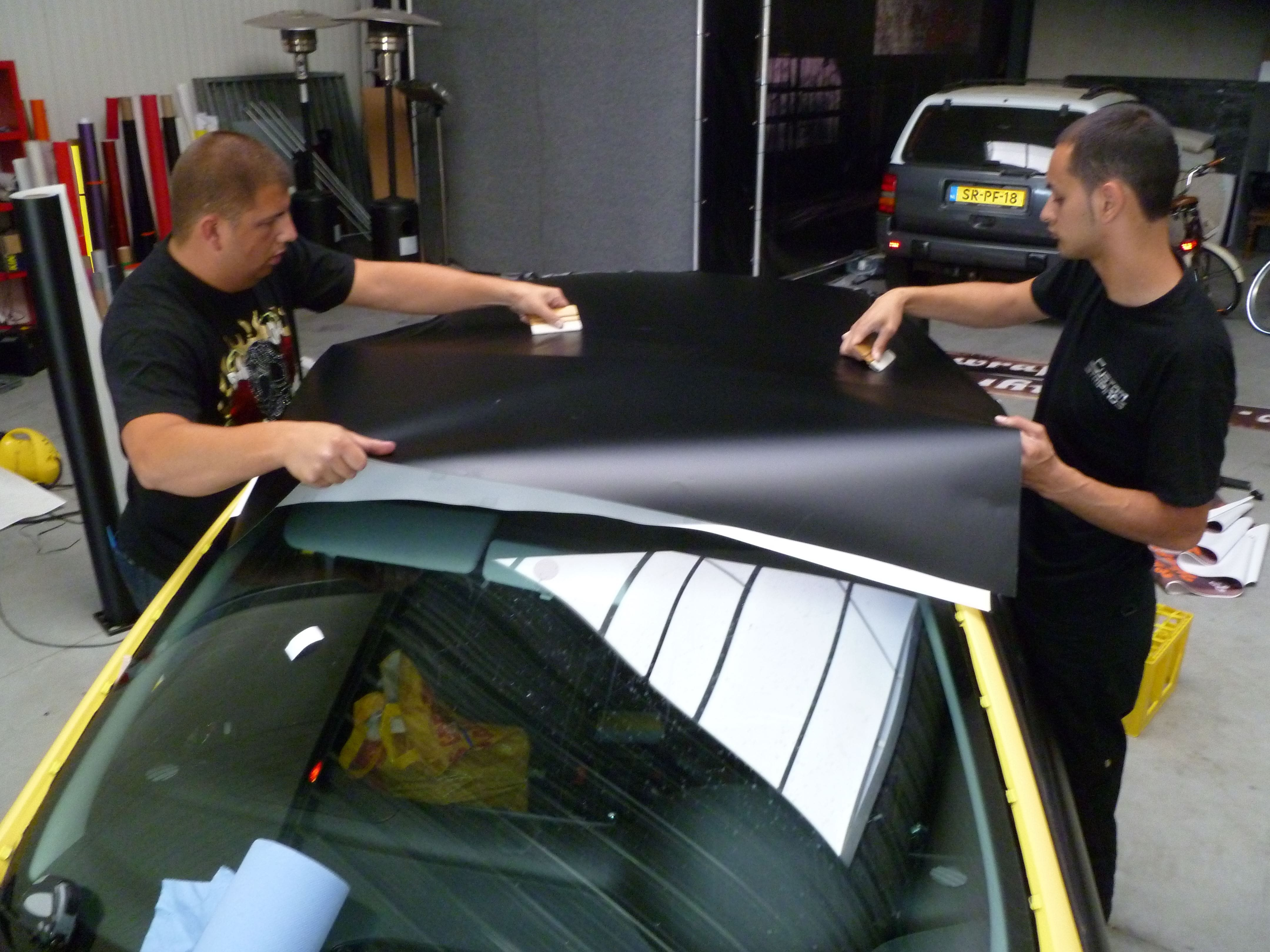 Seat Leon in Mat Zwarte Wrap, Carwrapping door Wrapmyride.nu Foto-nr:7190, ©2021