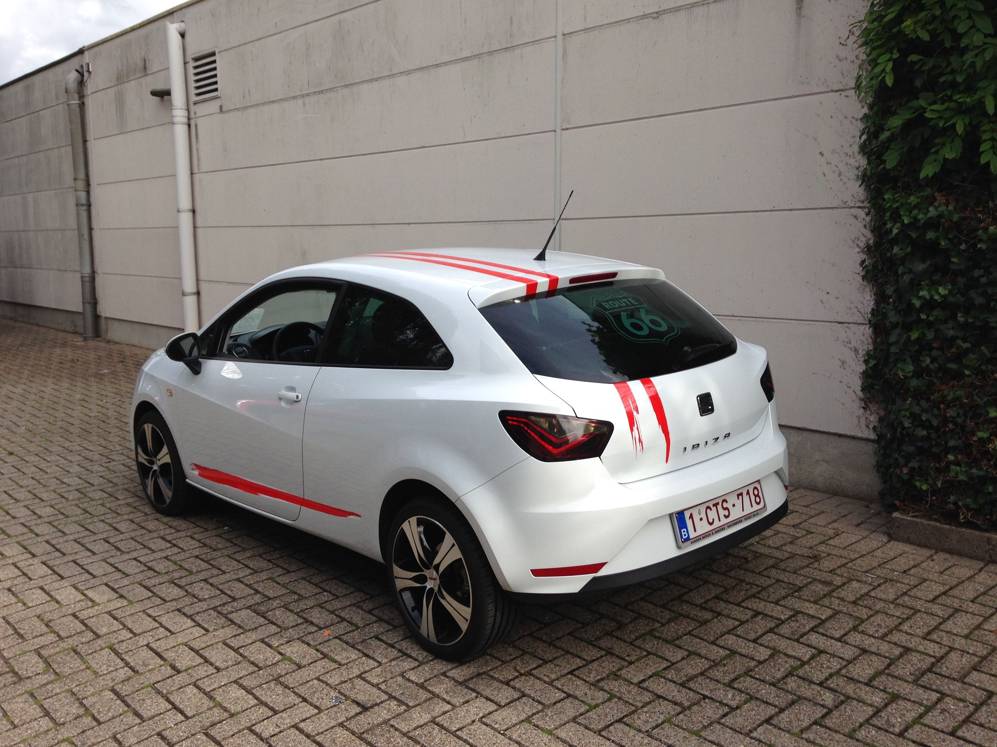 Seat Leon met USA Striping, Carwrapping door Wrapmyride.nu Foto-nr:7465, ©2021