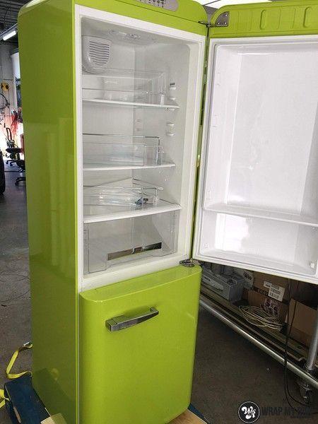 Smeg koelkast matte army green, Carwrapping door Wrapmyride.nu Foto-nr:12679, ©2021