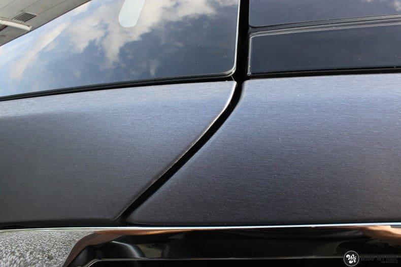 Tesla Model S brushed steel, Carwrapping door Wrapmyride.nu Foto-nr:9945, ©2018