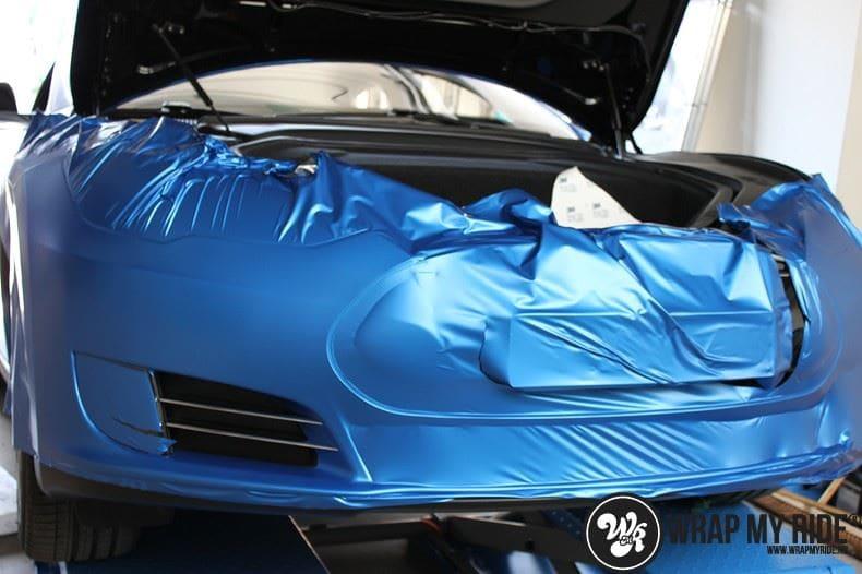Tesla model S p85D Satin Perfect Bleu two-tone, Carwrapping door Wrapmyride.nu Foto-nr:8011, ©2020