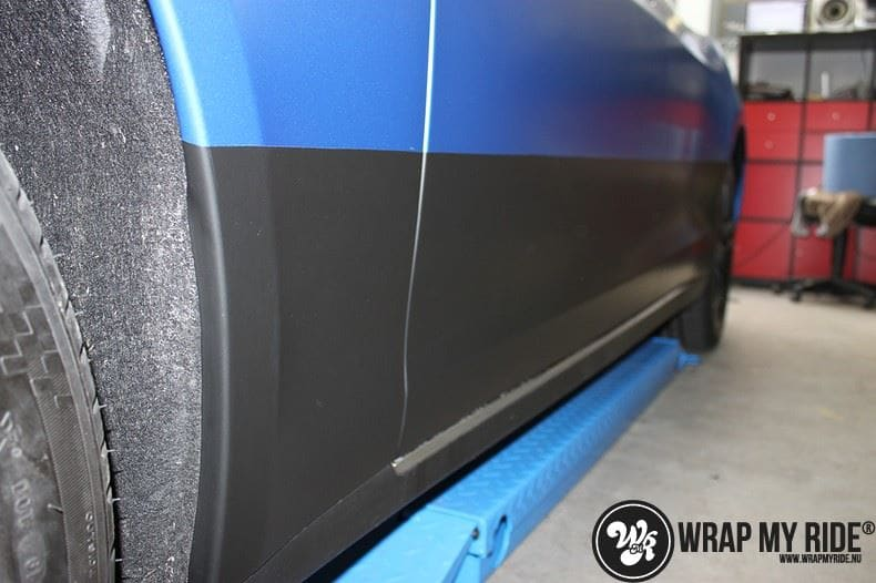 Tesla model S p85D Satin Perfect Bleu two-tone, Carwrapping door Wrapmyride.nu Foto-nr:8018, ©2021
