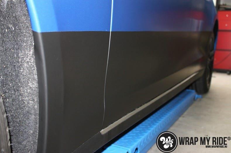 Tesla model S p85D Satin Perfect Bleu two-tone, Carwrapping door Wrapmyride.nu Foto-nr:7996, ©2020
