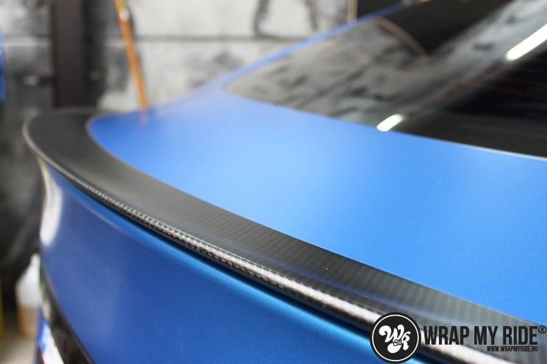 Tesla model S p85D Satin Perfect Bleu two-tone, Carwrapping door Wrapmyride.nu Foto-nr:8023, ©2020