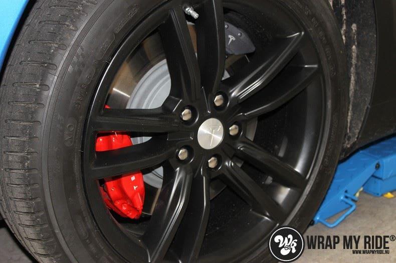 Tesla model S p85D Satin Perfect Bleu two-tone, Carwrapping door Wrapmyride.nu Foto-nr:8024, ©2020