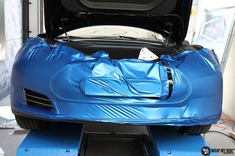 Tesla Model S P90D, Carwrapping door Wrapmyride.nu Foto-nr:10093, ©2021