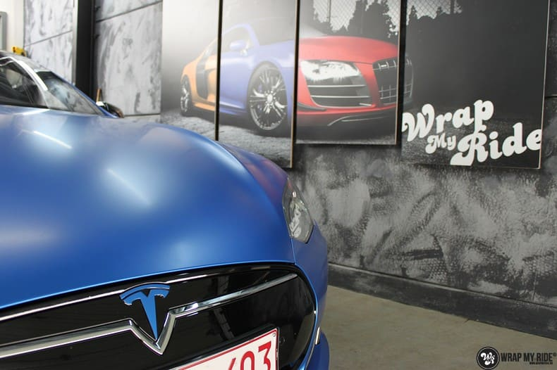 Tesla Model S P90D, Carwrapping door Wrapmyride.nu Foto-nr:10088, ©2020