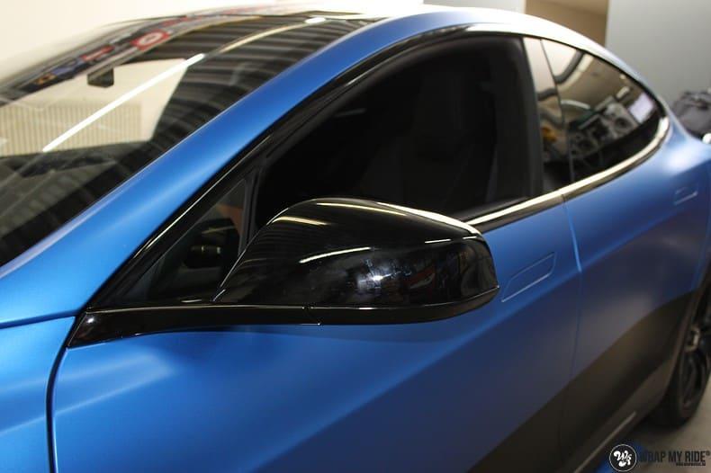 Tesla Model S P90D, Carwrapping door Wrapmyride.nu Foto-nr:10083, ©2021