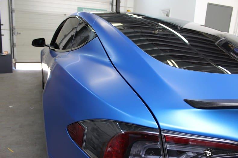 Tesla Model S P90D, Carwrapping door Wrapmyride.nu Foto-nr:10082, ©2021