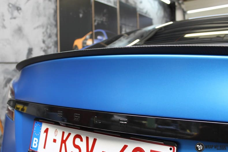 Tesla Model S P90D, Carwrapping door Wrapmyride.nu Foto-nr:10081, ©2018