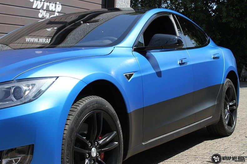 Tesla Model S P90D, Carwrapping door Wrapmyride.nu Foto-nr:10074, ©2021