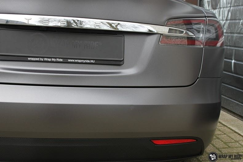 Tesla Model S Satin Dark Grey, Carwrapping door Wrapmyride.nu Foto-nr:9584, ©2021