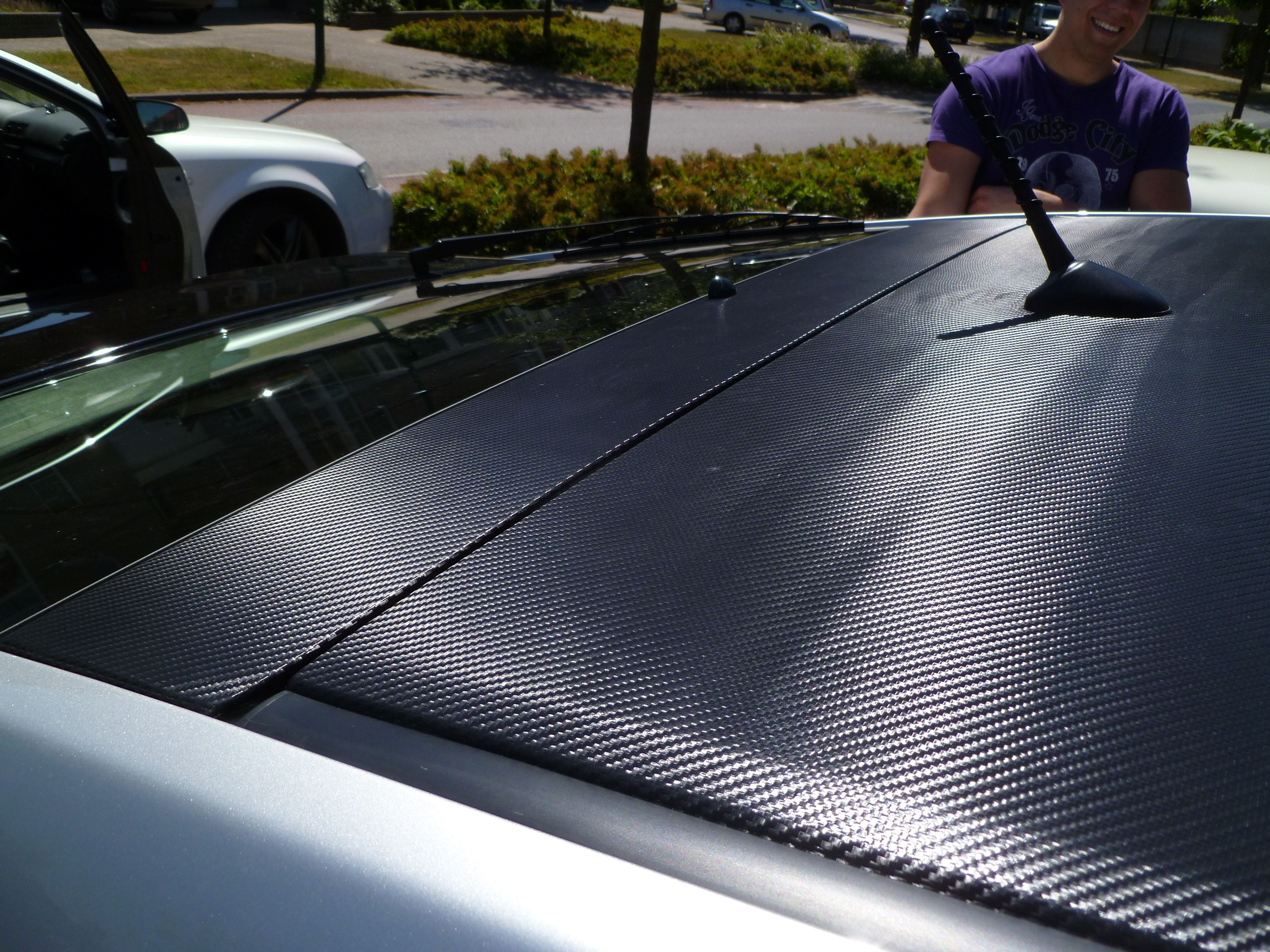 Toyota Prius met Carbon dak, Carwrapping door Wrapmyride.nu Foto-nr:7193, ©2020