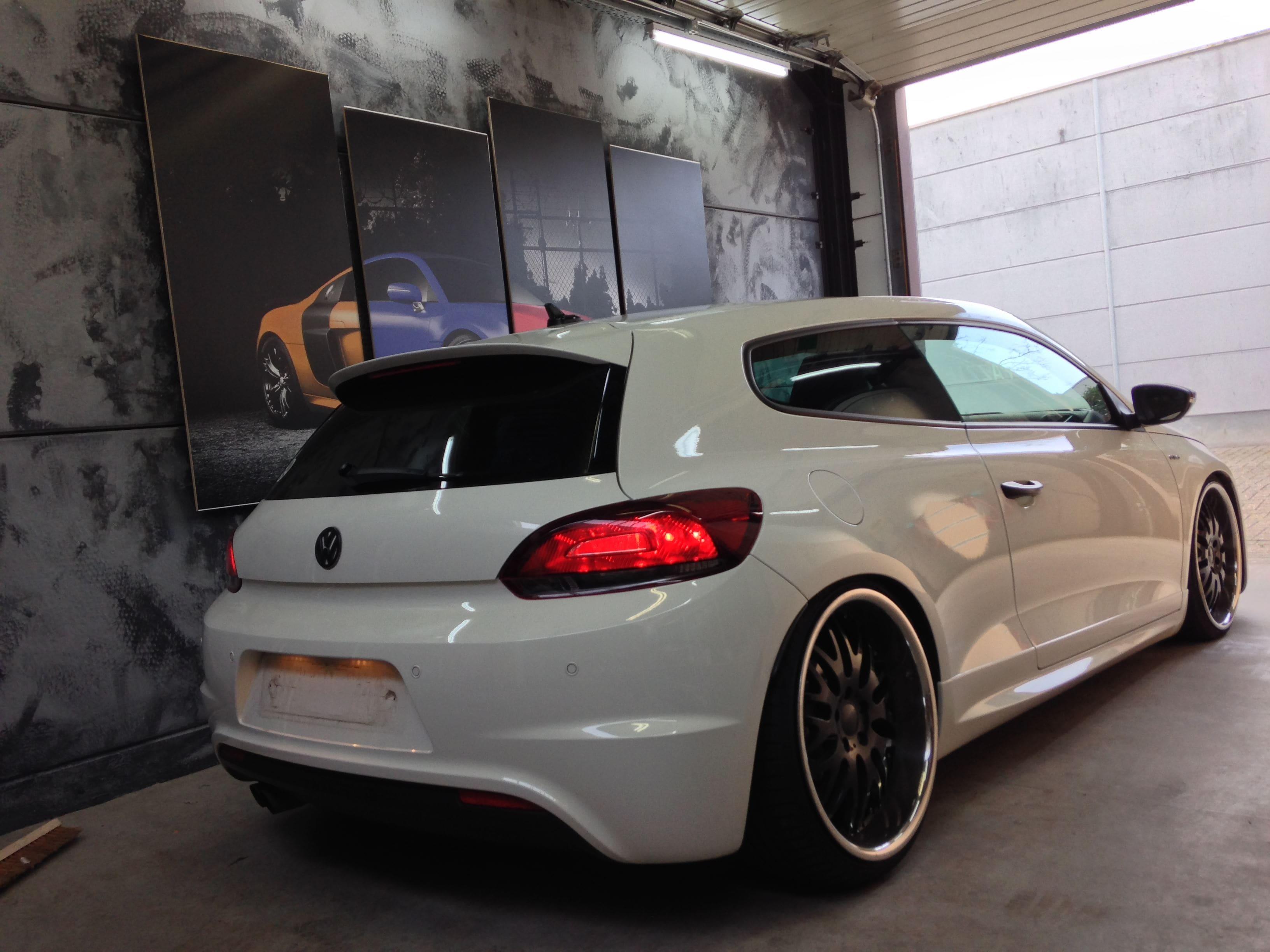 Volkswagen Scirocco met Mat Metallic Roze Warp, Carwrapping door Wrapmyride.nu Foto-nr:6972, ©2021