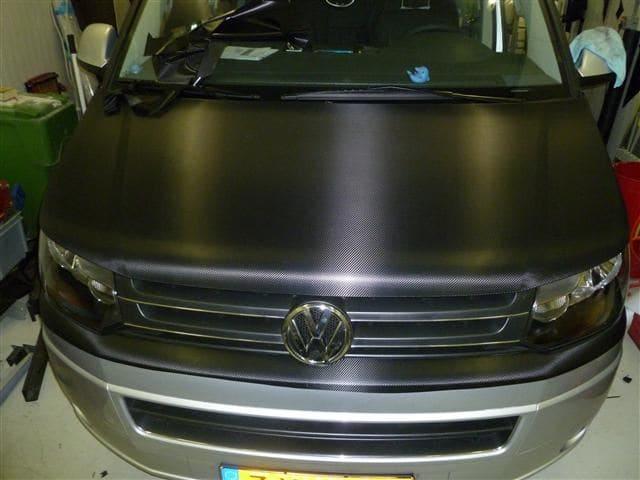 Volkswagen T5 Busje met Two-Tone Wrap in Zwart en Grijs, Carwrapping door Wrapmyride.nu Foto-nr:7356, ©2021