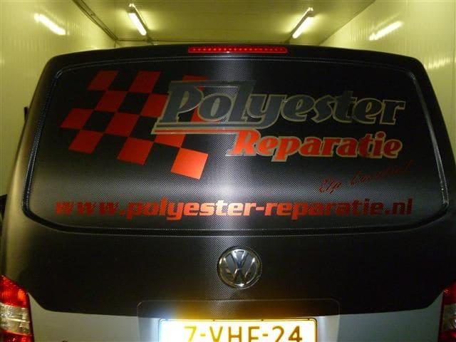 Volkswagen T5 Busje met Two-Tone Wrap in Zwart en Grijs, Carwrapping door Wrapmyride.nu Foto-nr:7358, ©2021