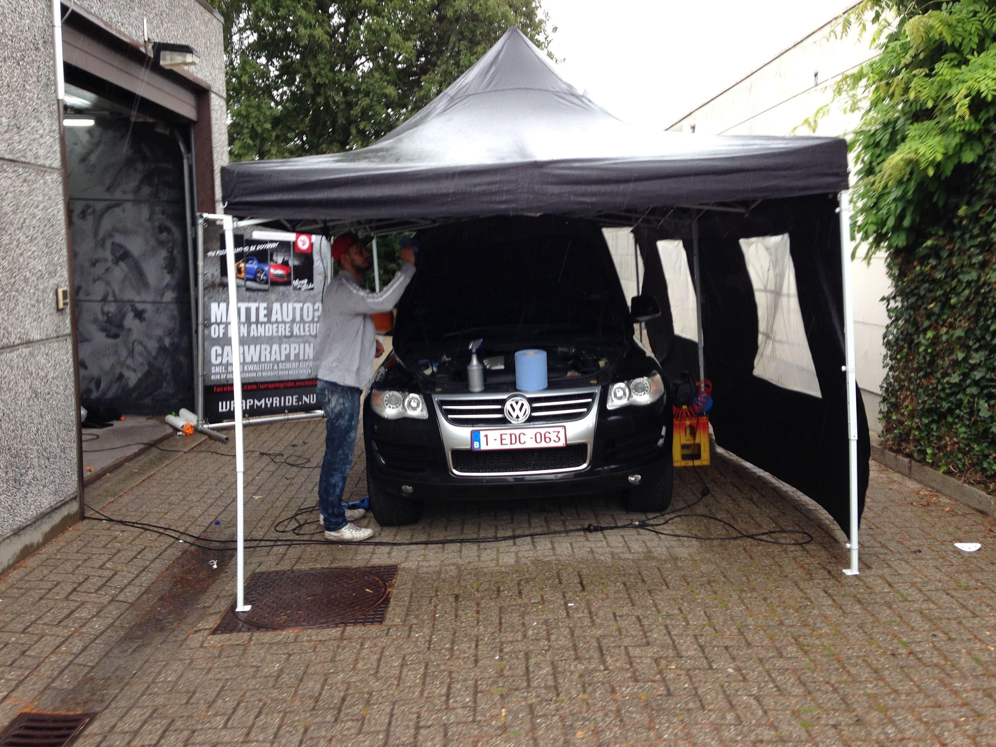 Volkswagen Touareg met Mat Oranje Wrap, Carwrapping door Wrapmyride.nu Foto-nr:7381, ©2021