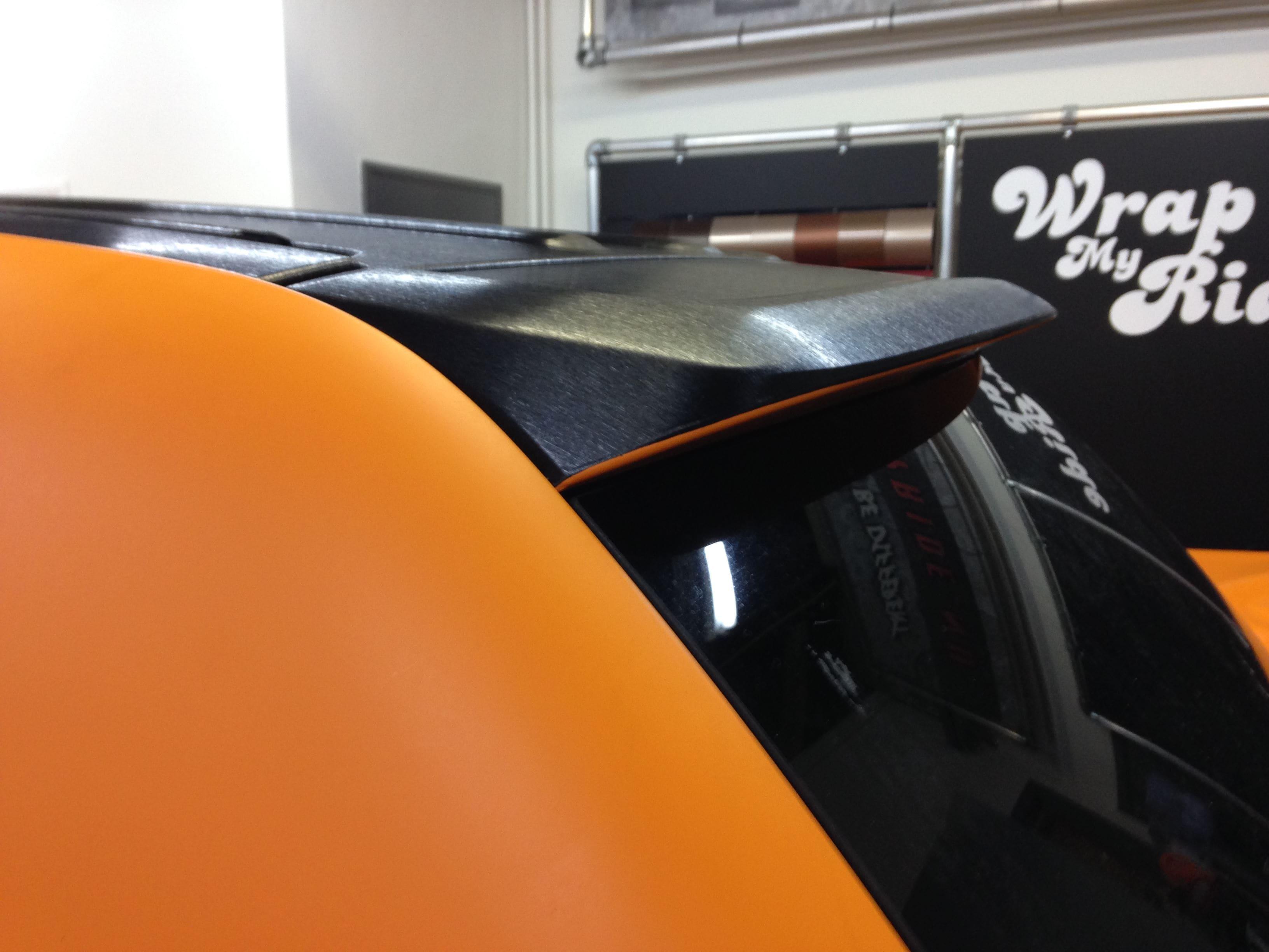 Volkswagen Touareg met Mat Oranje Wrap, Carwrapping door Wrapmyride.nu Foto-nr:7385, ©2020