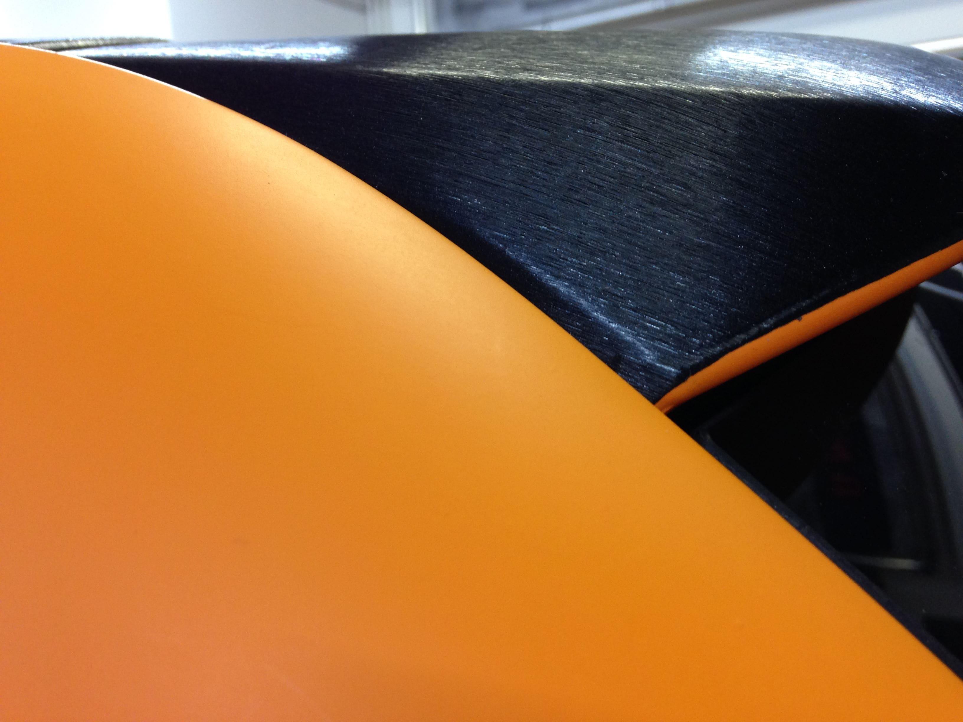 Volkswagen Touareg met Mat Oranje Wrap, Carwrapping door Wrapmyride.nu Foto-nr:7386, ©2020