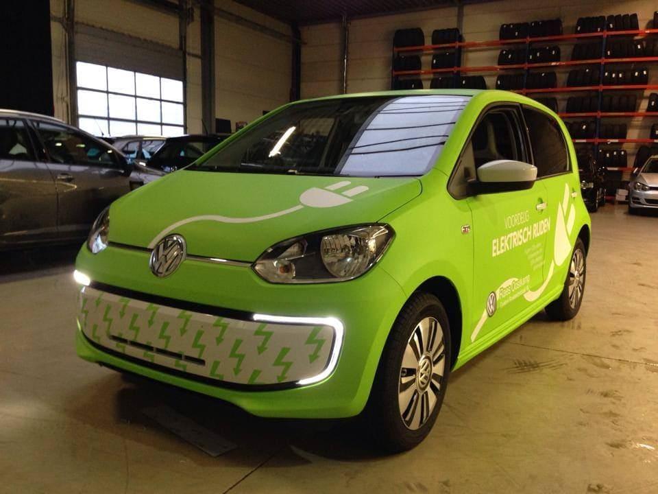 Volkswagen Up met Toxic Green Groene Wrap, Carwrapping door Wrapmyride.nu Foto-nr:7413, ©2020