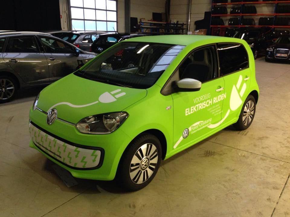 Volkswagen Up met Toxic Green Groene Wrap, Carwrapping door Wrapmyride.nu Foto-nr:7414, ©2020