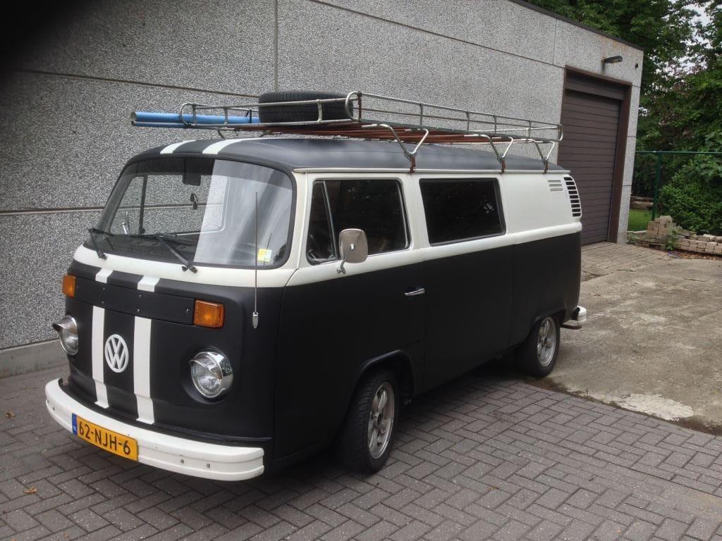 VW T2 mat black guitar hero, Carwrapping door Wrapmyride.nu Foto-nr:8037, ©2021
