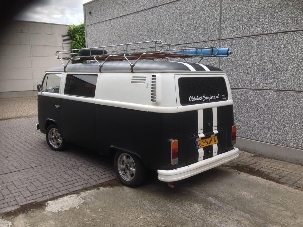VW T2 mat black guitar hero, Carwrapping door Wrapmyride.nu Foto-nr:8041, ©2020