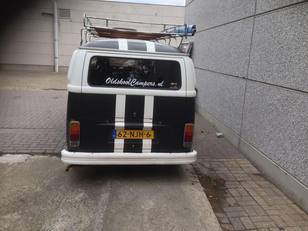 VW T2 mat black guitar hero, Carwrapping door Wrapmyride.nu Foto-nr:8042, ©2021